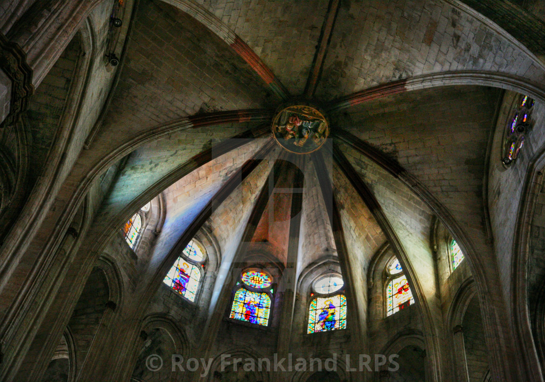 """""""Barcelona cathedral ceiling 1"""" stock image"""