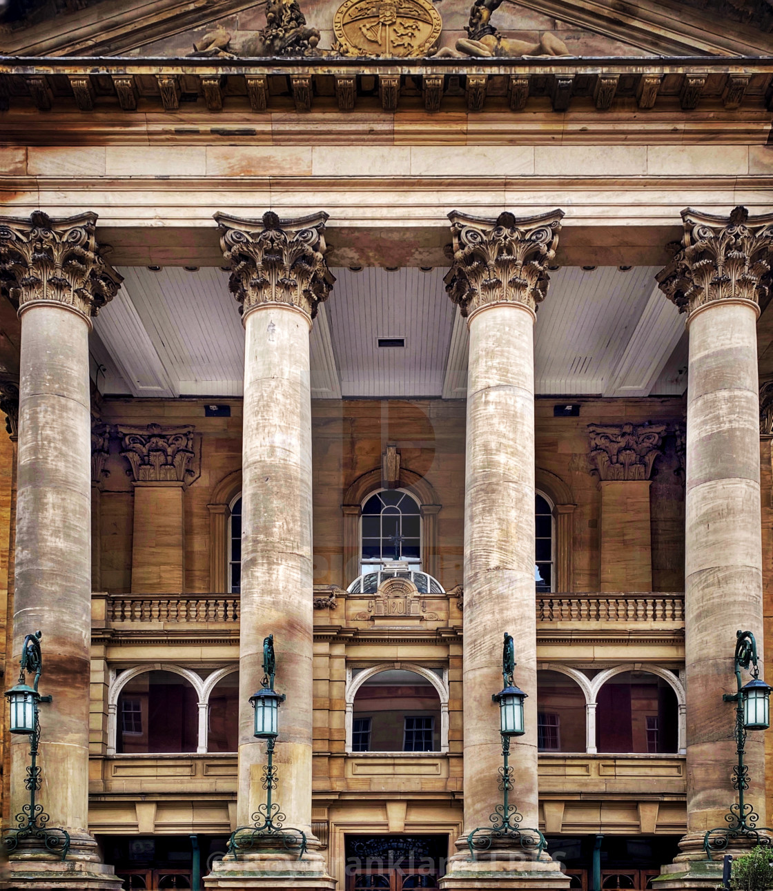 """Theatre Royal columns, Newcastle"" stock image"