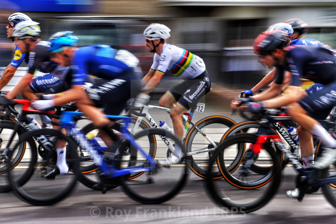 """""""Tour of Britain Cycle race with Alaphilippe"""" stock image"""