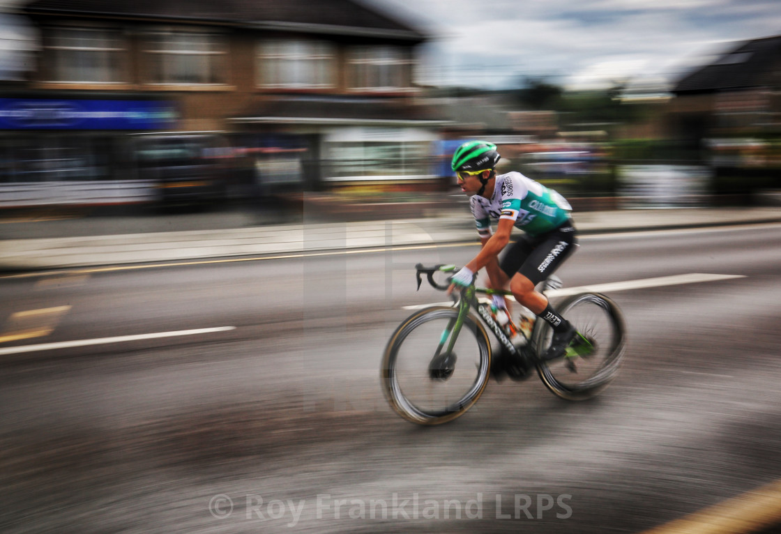 """""""Tour of Britain cyclist"""" stock image"""