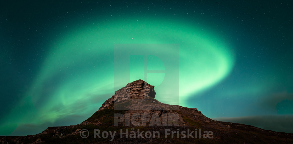 """Aurorawave over Krampenes"" stock image"