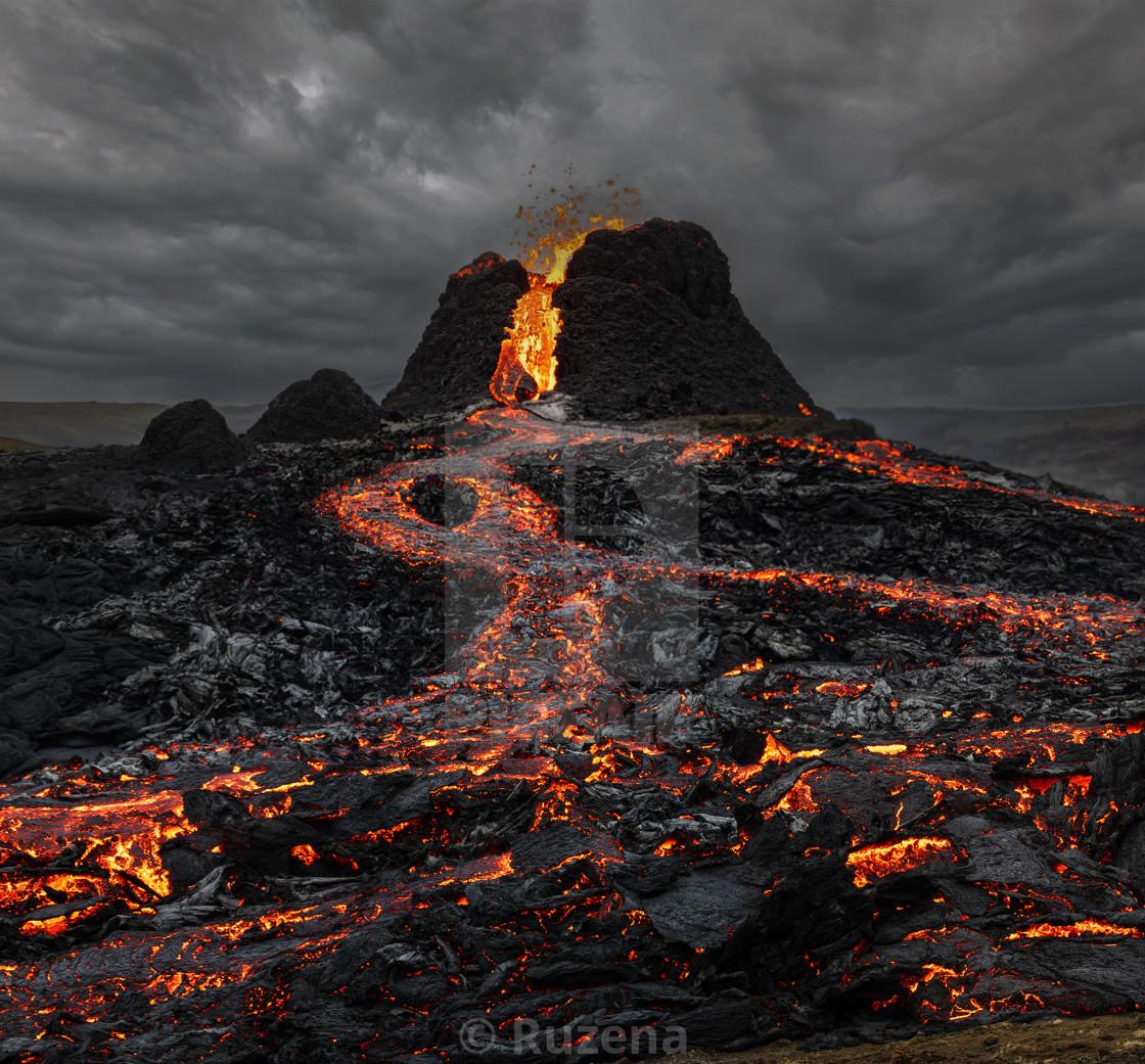 """""""Icelandic volcano"""" stock image"""