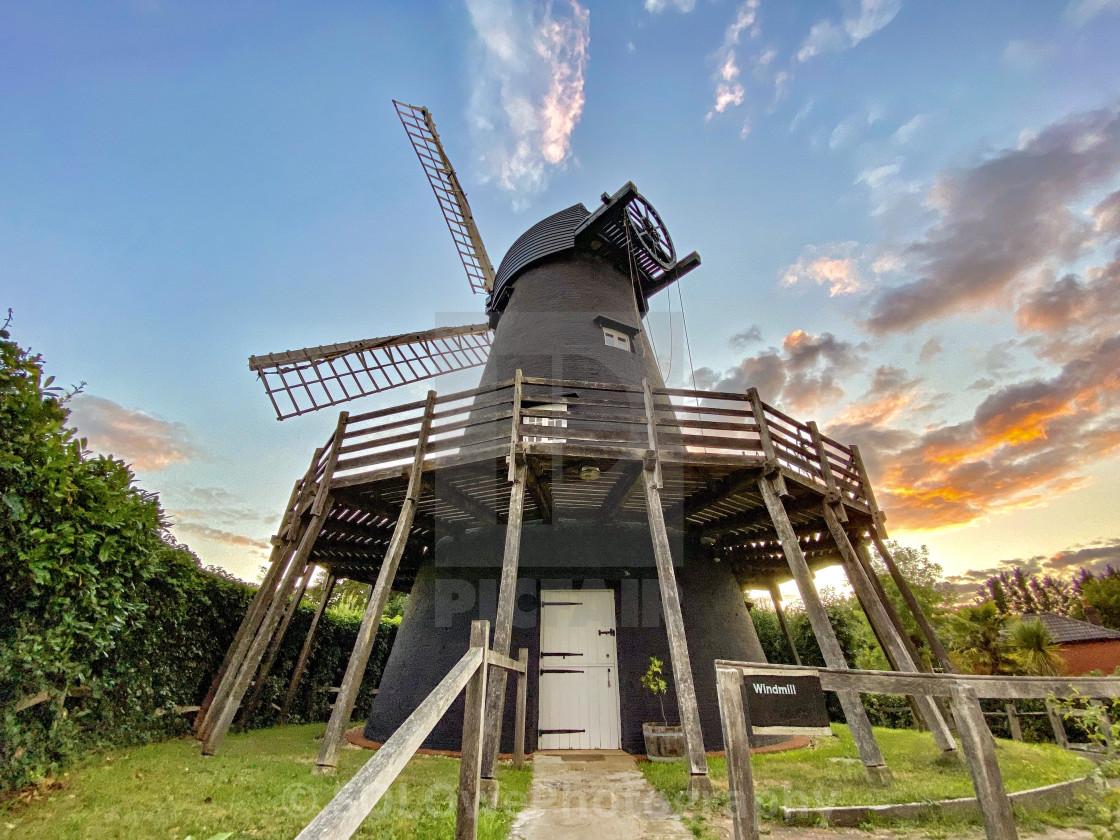 """Bursledon Windmill"" stock image"