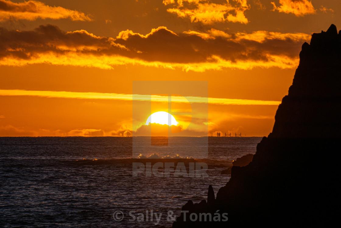 """Ballycotton Sunset"" stock image"