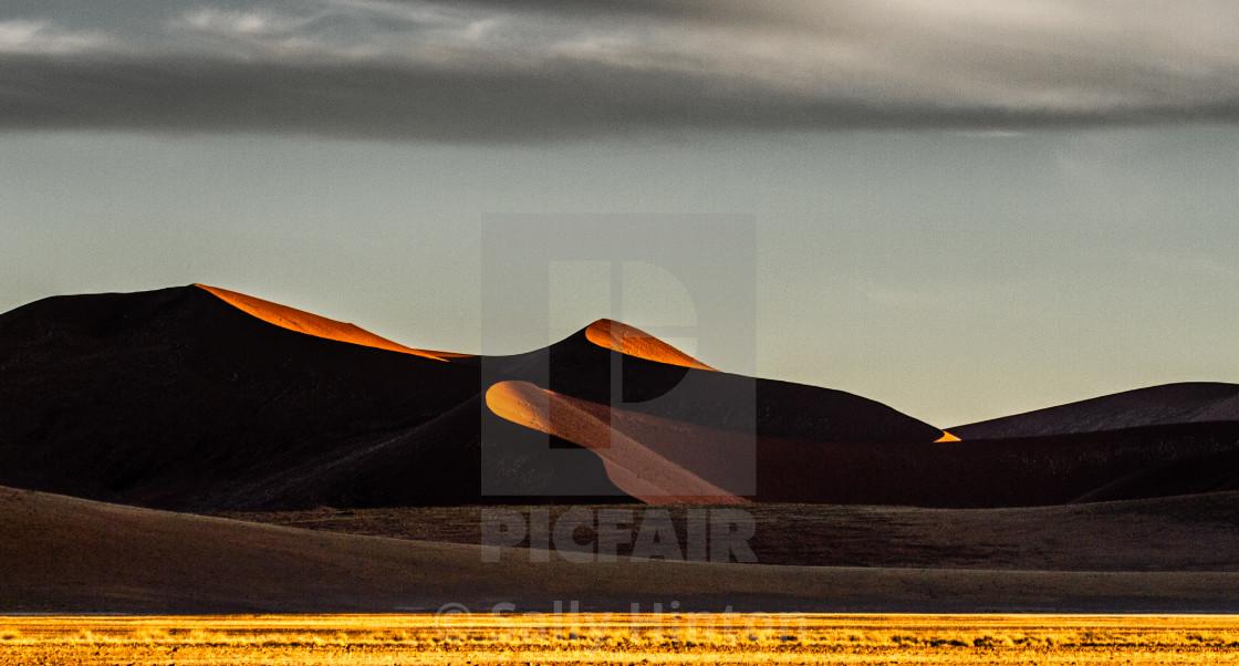 """Sossusvlei Sand dune at sunrise"" stock image"