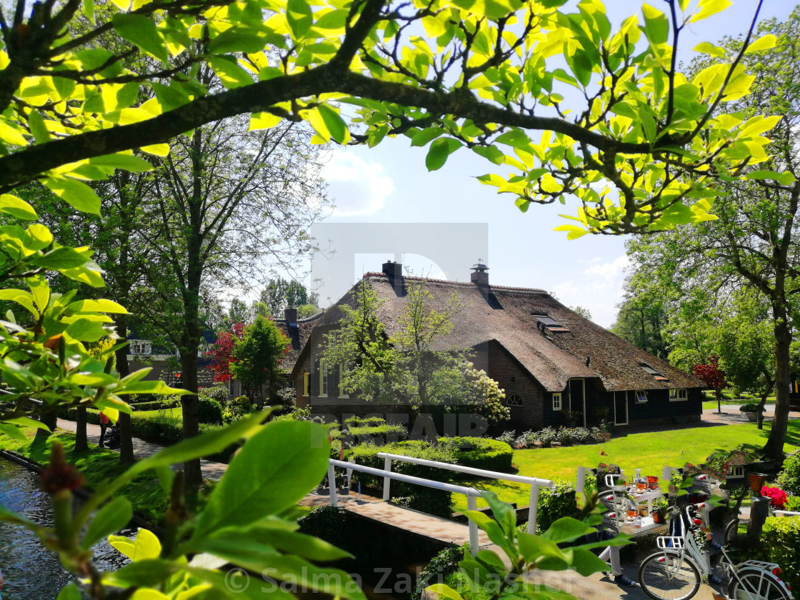 """""""A Peaceful place- Giethoorn"""" stock image"""