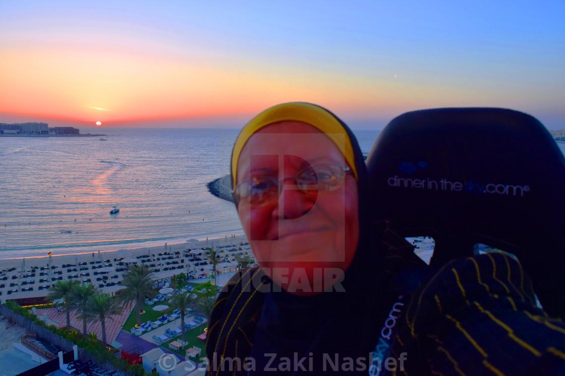 """""""Dinner in the Sky- Dubai"""" stock image"""
