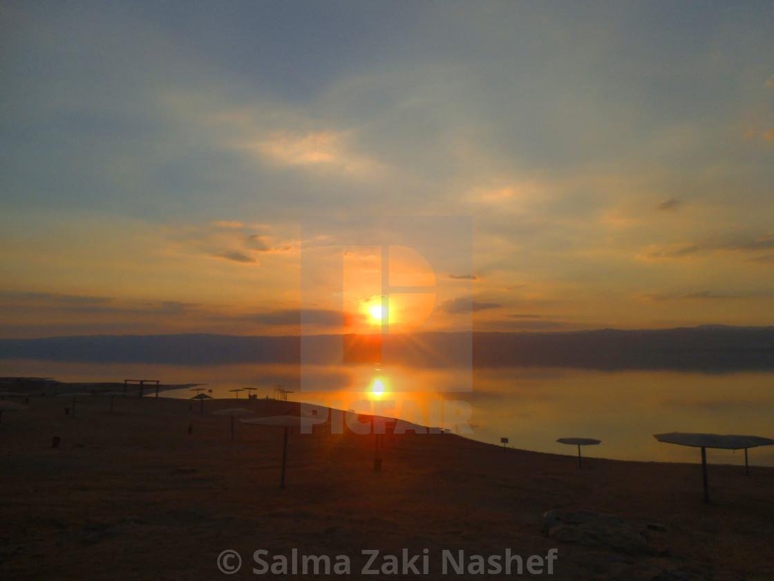 """""""Sunset A t Dead Sea - Jordan"""" stock image"""