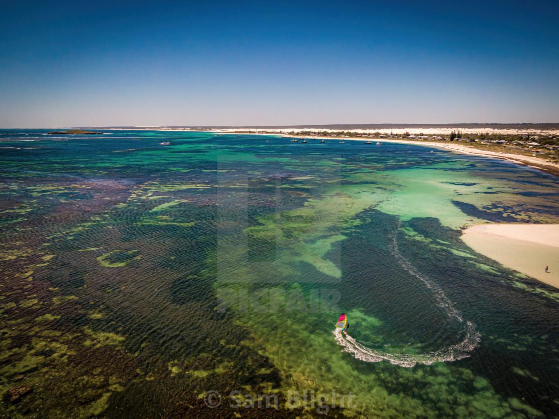 """Lancelin Beach Aerial"" stock image"
