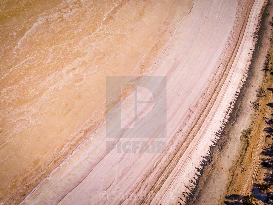 """Salt lake Shore"" stock image"