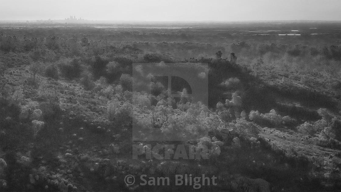 """Gooseberry Hill Ridge"" stock image"