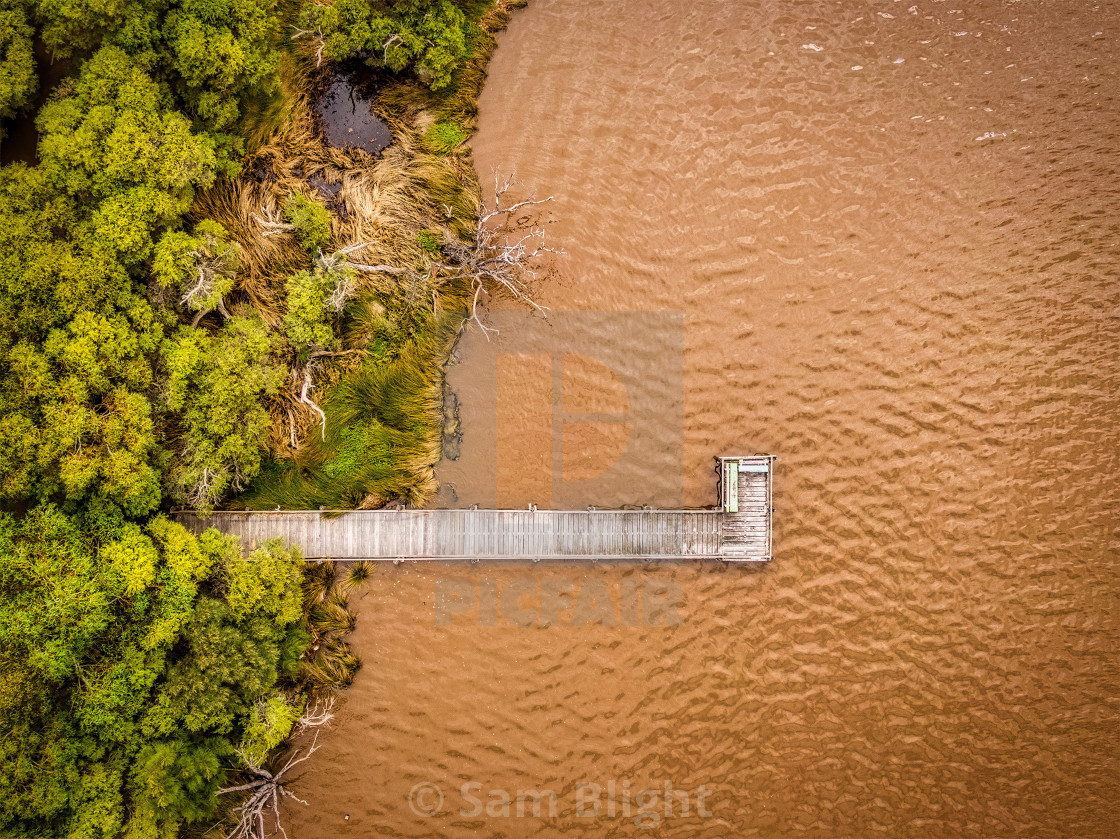 """""""River Jetty"""" stock image"""