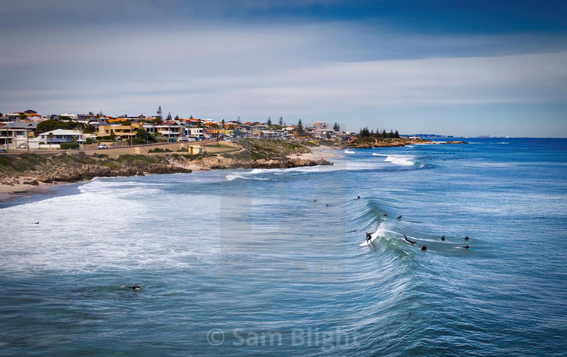 """Trigg Beach Surline"" stock image"