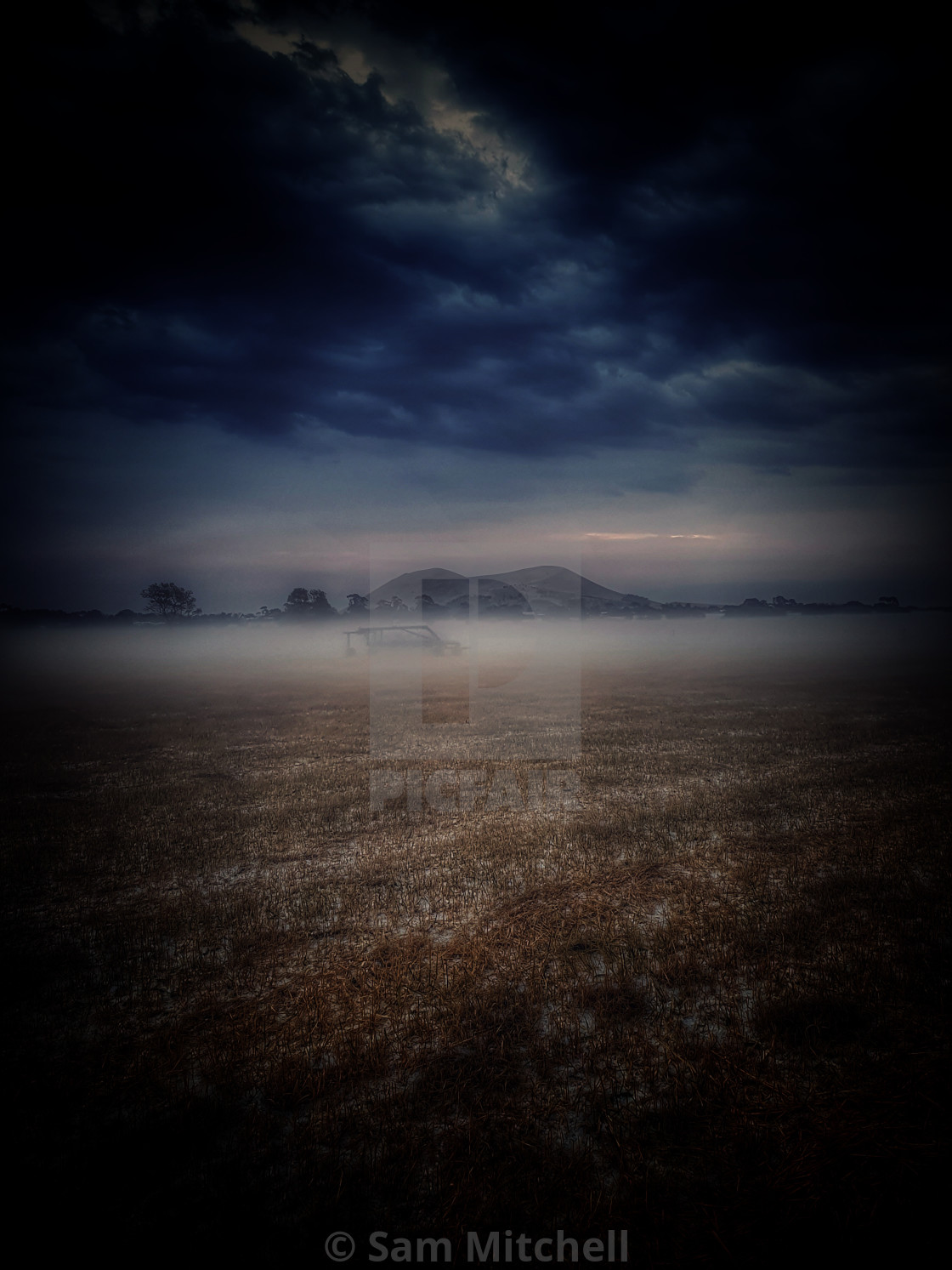 """""""As the fog lifted"""" stock image"""