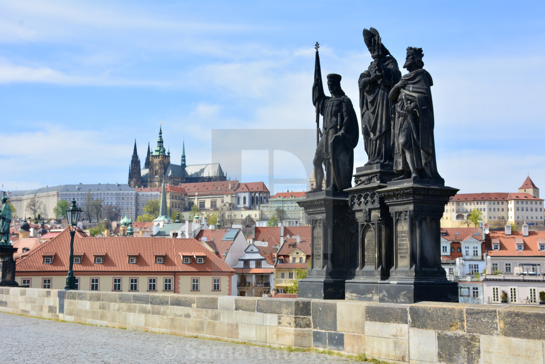 """""""Saints and the Castle"""" stock image"""