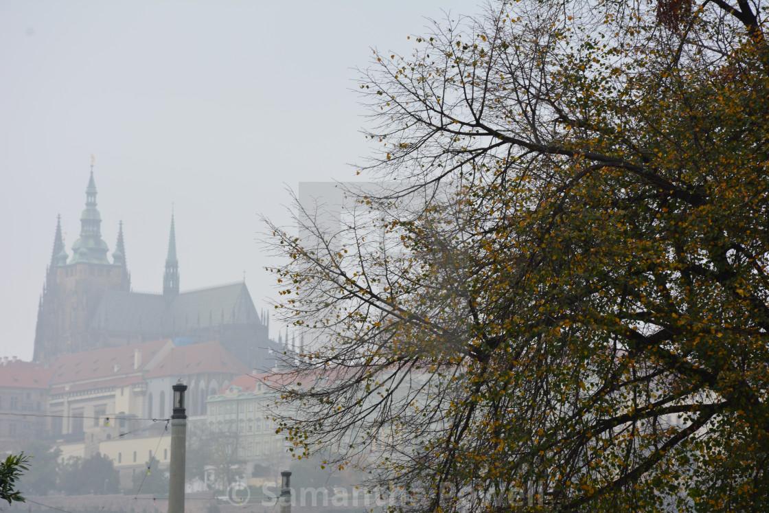 """Foggy Castle"" stock image"
