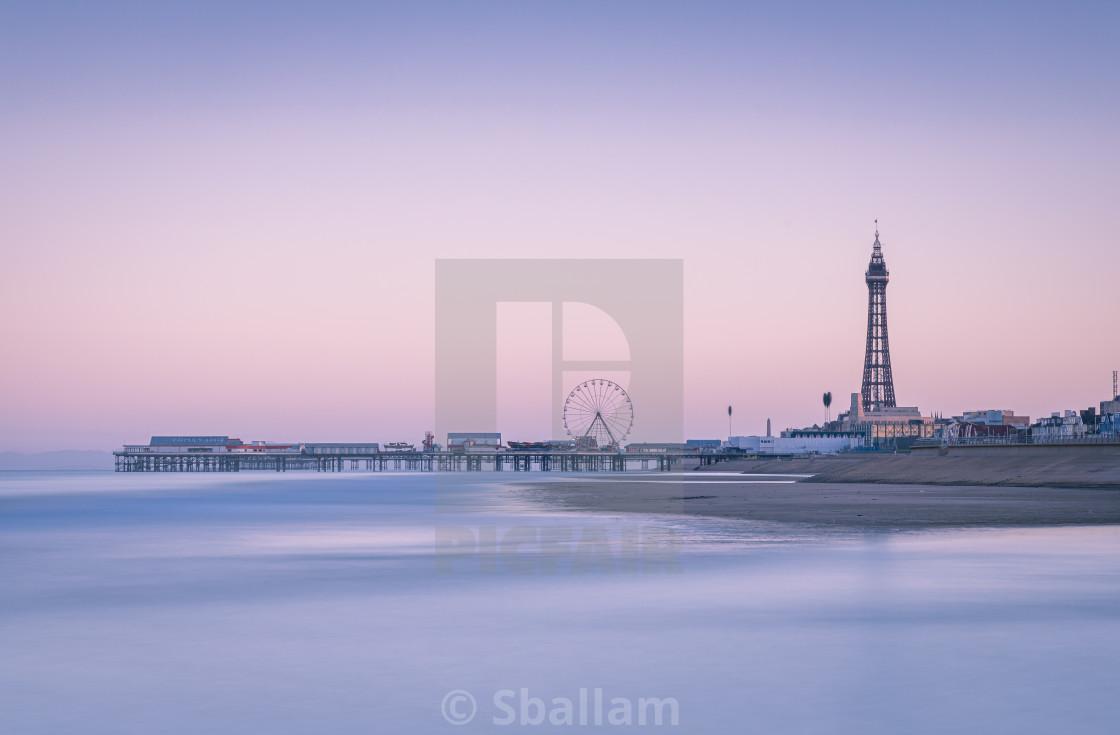 """Blackpool at Sunrise"" stock image"