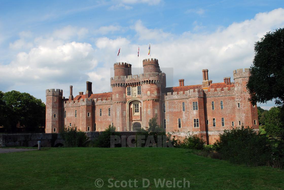 """Herstmonceux Castle"" stock image"