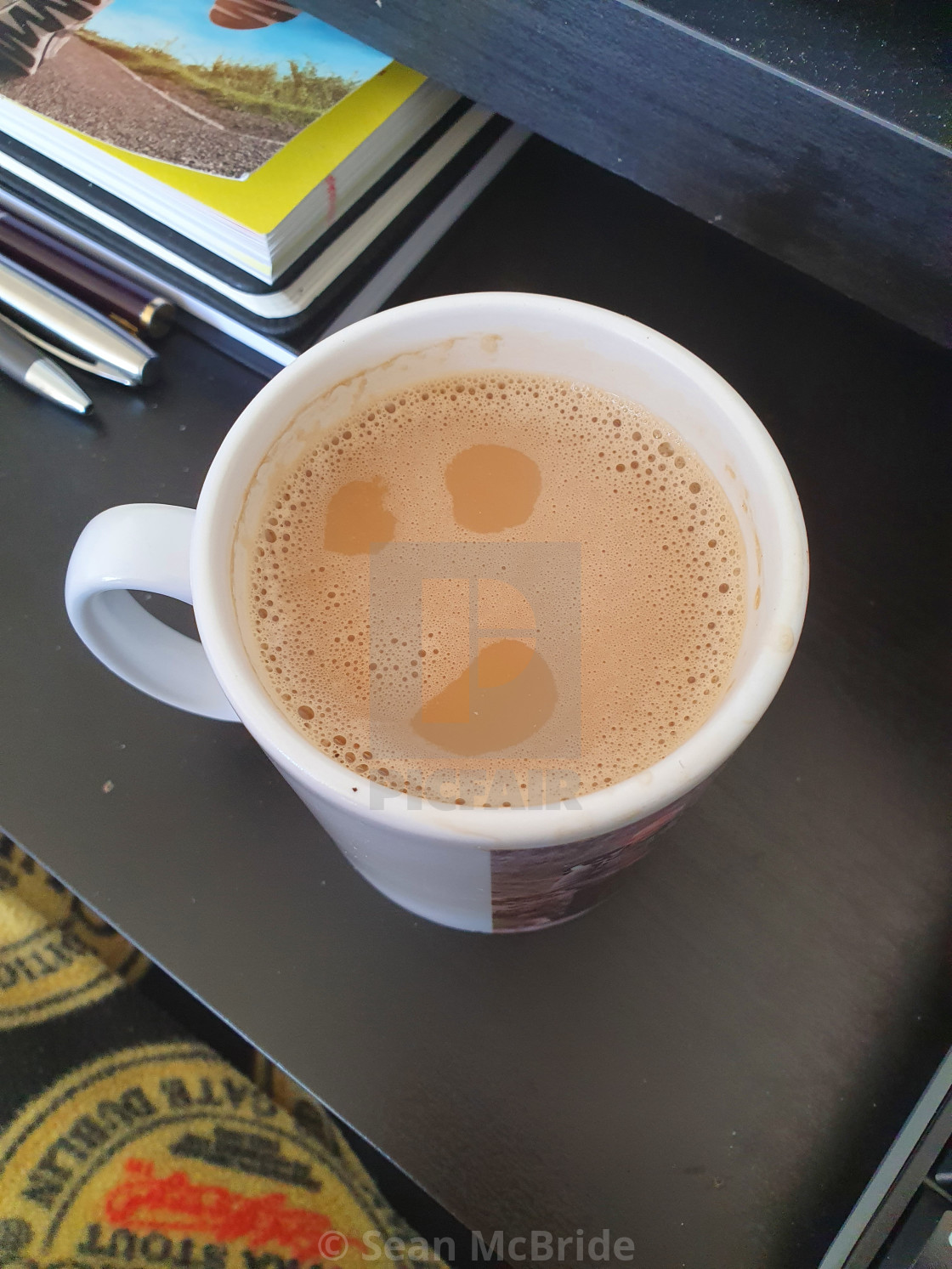 """""""Smile in my coffee"""" stock image"""
