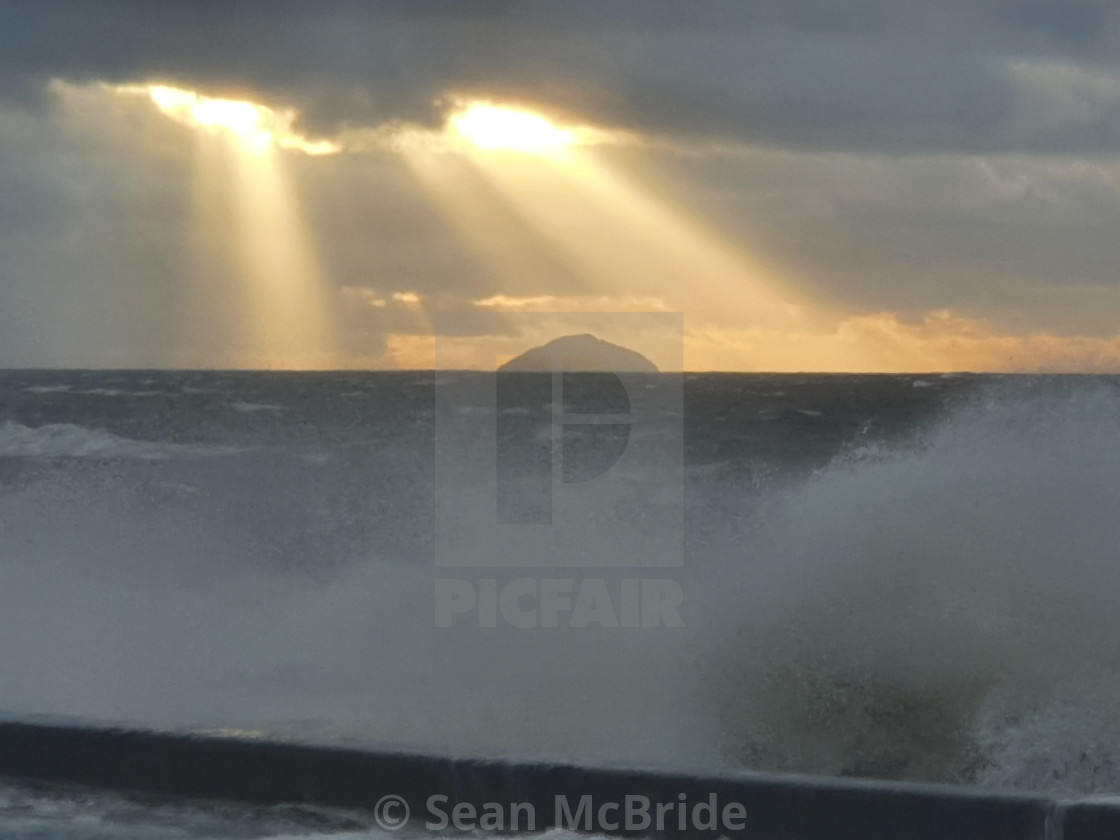 """""""Ailsa in a storm"""" stock image"""