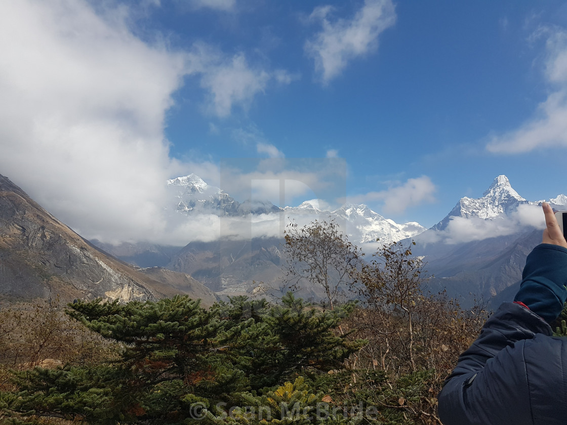 """""""View of Everest 2"""" stock image"""