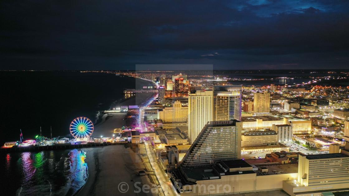 """""""Atlantic City, NJ Boardwalk"""" stock image"""