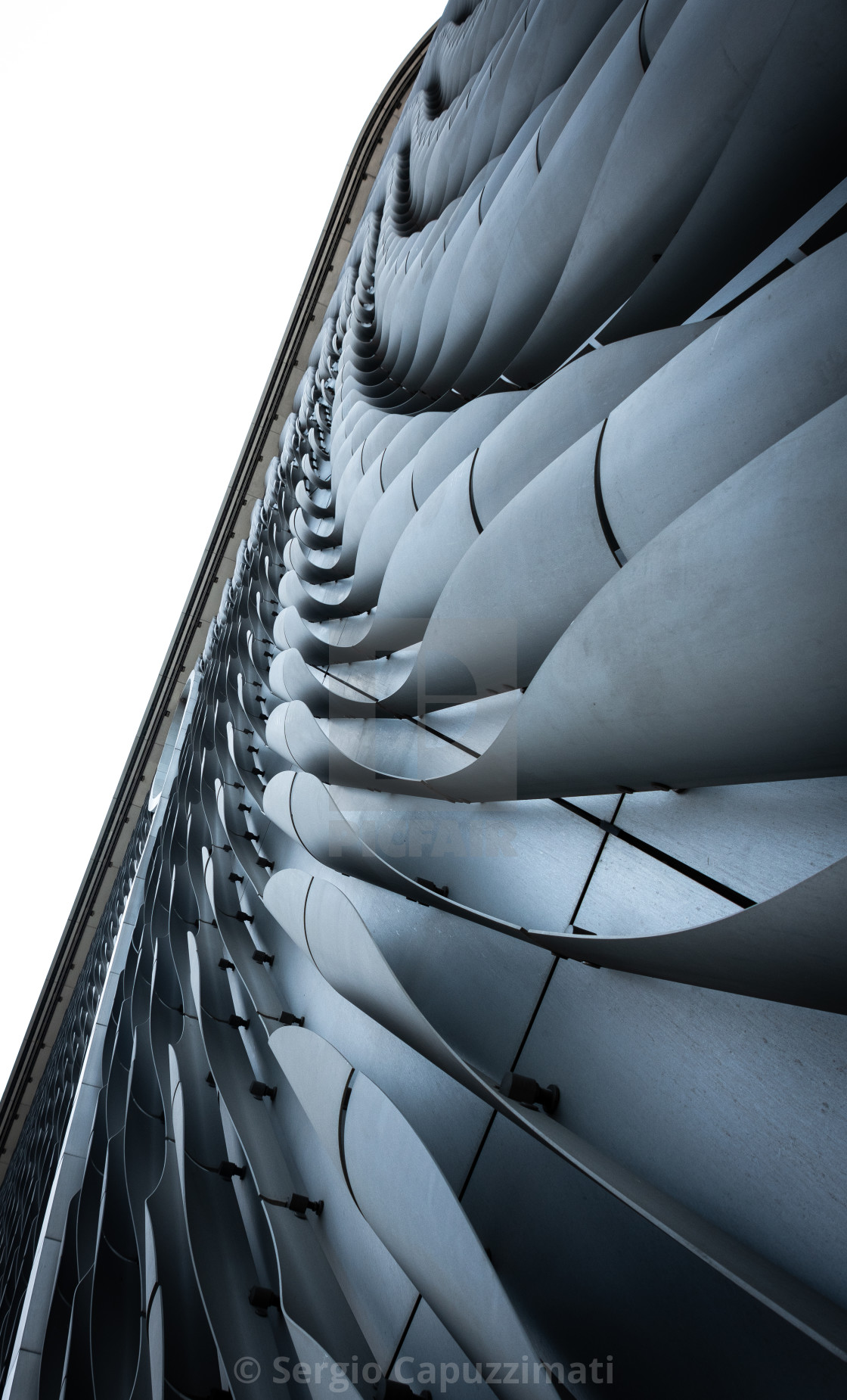 """""""Detail of the facade of Xiqu centre in Hong Kong"""" stock image"""