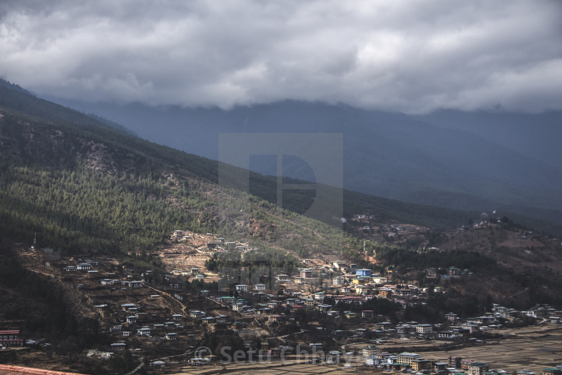 """""""city by the mountains"""" stock image"""