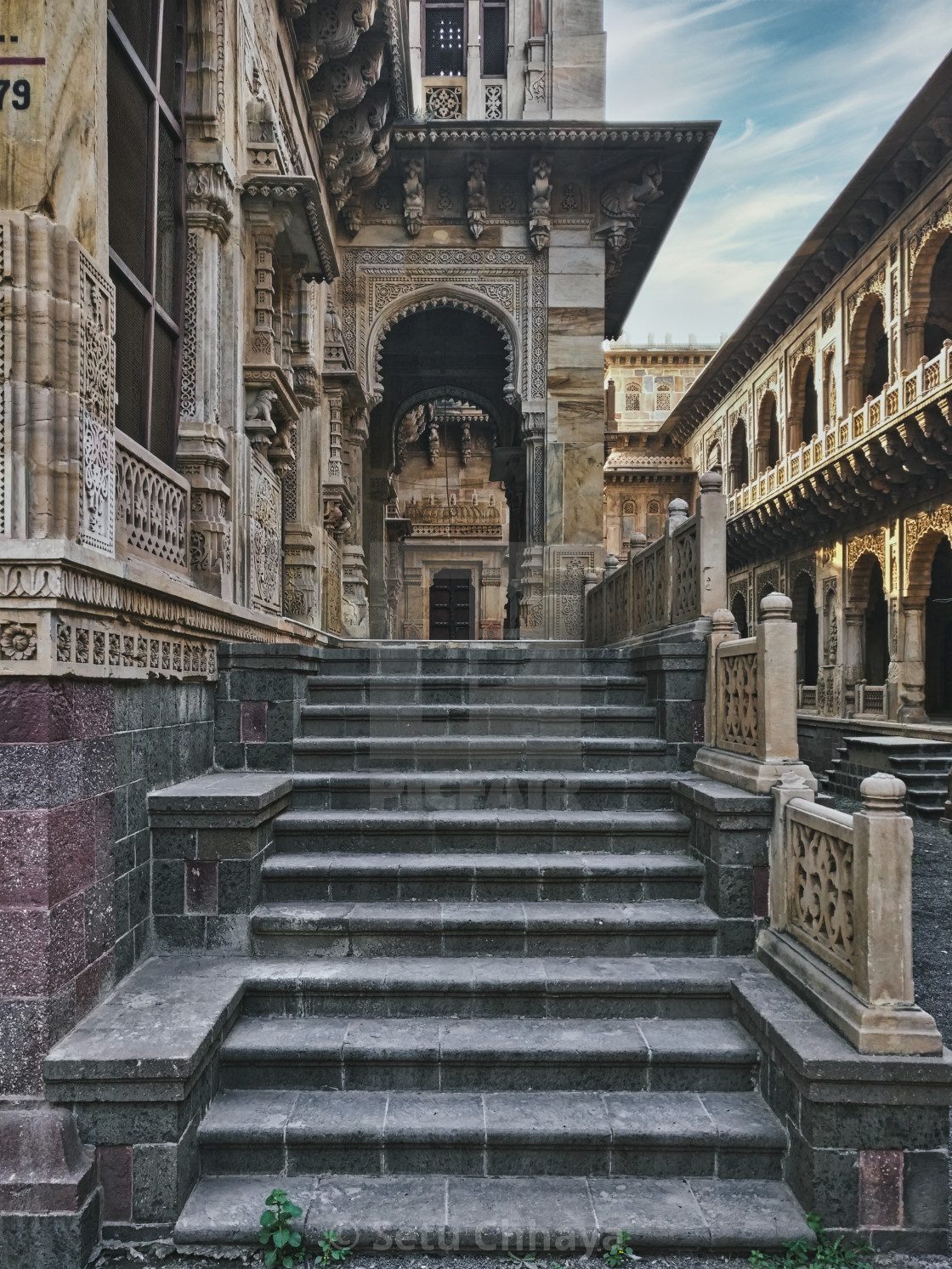 """""""Stairway to the temple-1"""" stock image"""