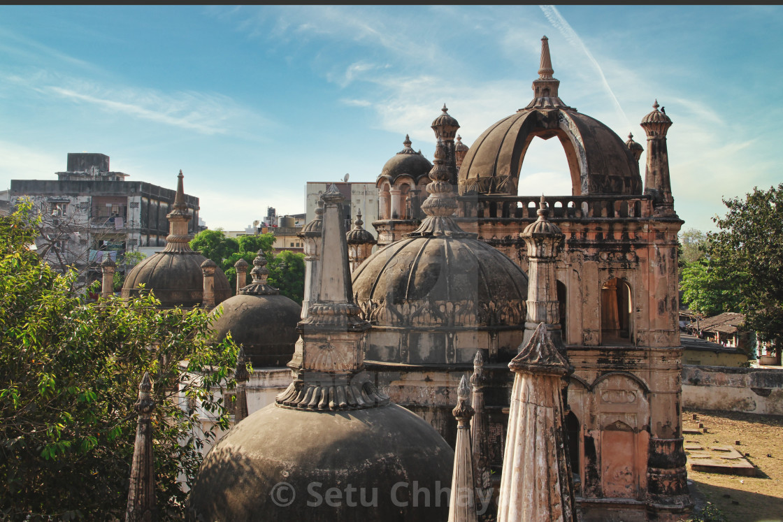 """""""A visit to Dutch and Armenian Cemetery in Surat, Gujarat."""" stock image"""