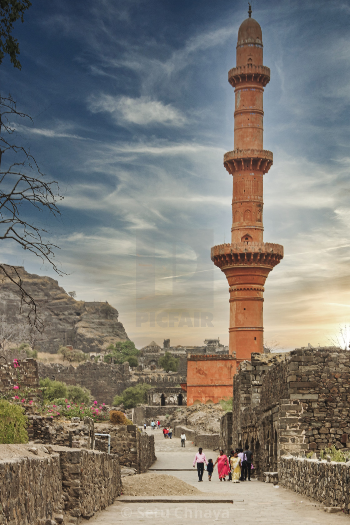 """""""Victory symbol of the Daulatabad Fort"""" stock image"""
