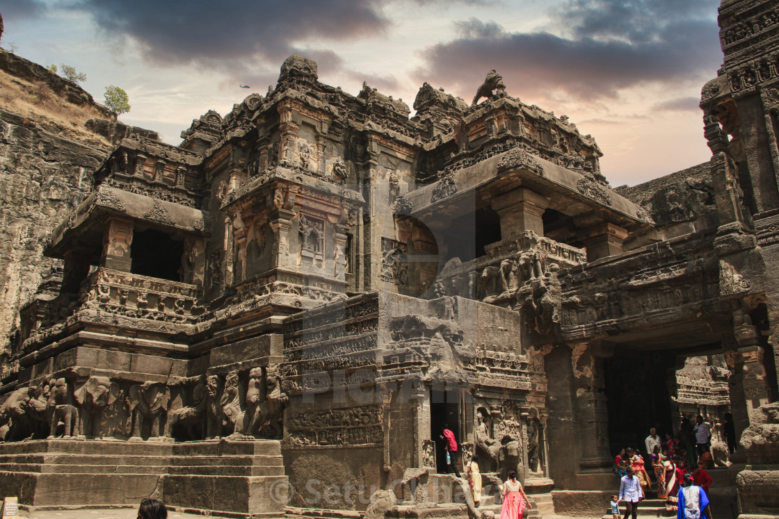 """""""Kailash temple - The gem of rock-cut architecture"""" stock image"""