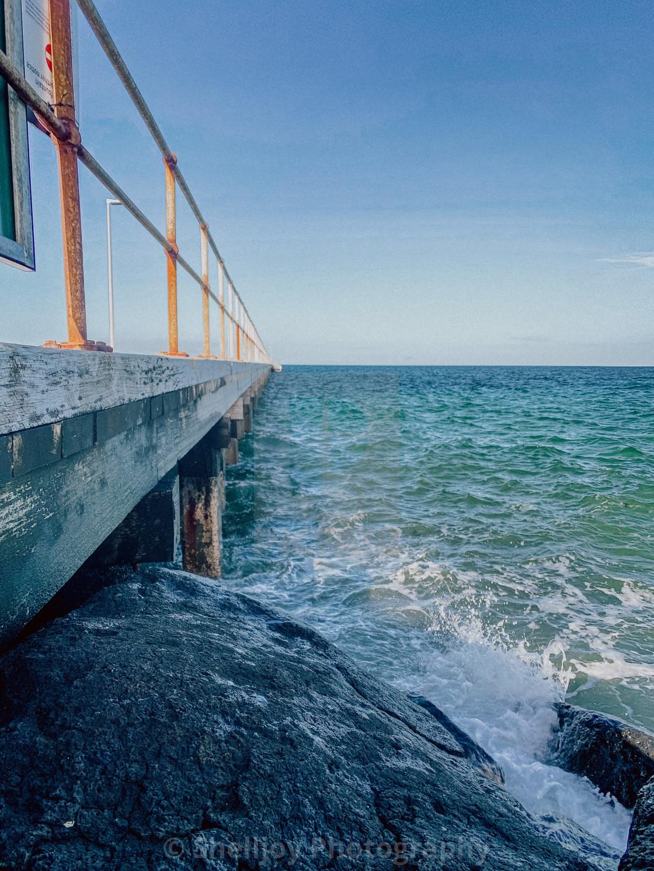 """""""Beach Jetty"""" stock image"""