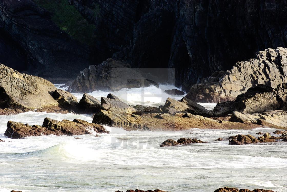 """""""Rocky Seas"""" stock image"""