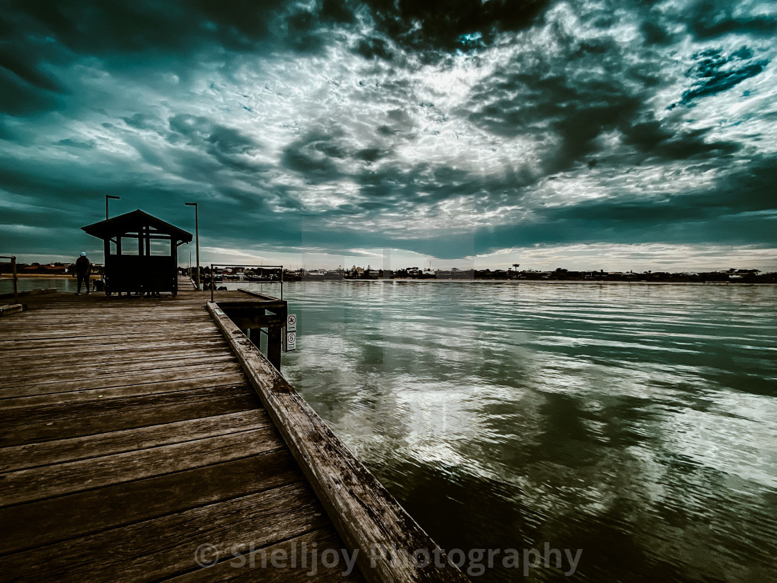 """""""Morning at the Pier"""" stock image"""