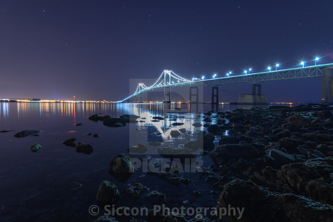 """""""Bridge Reflection"""" stock image"""