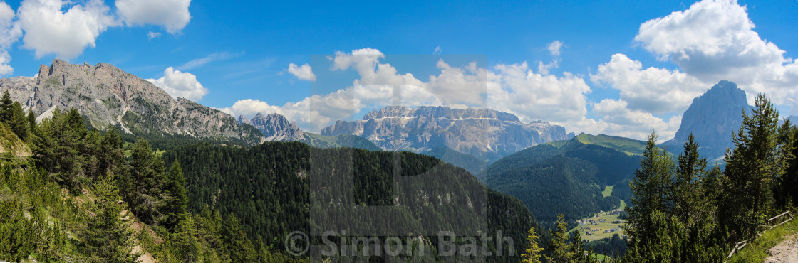 """Dolomites Panoramic - Wide"" stock image"