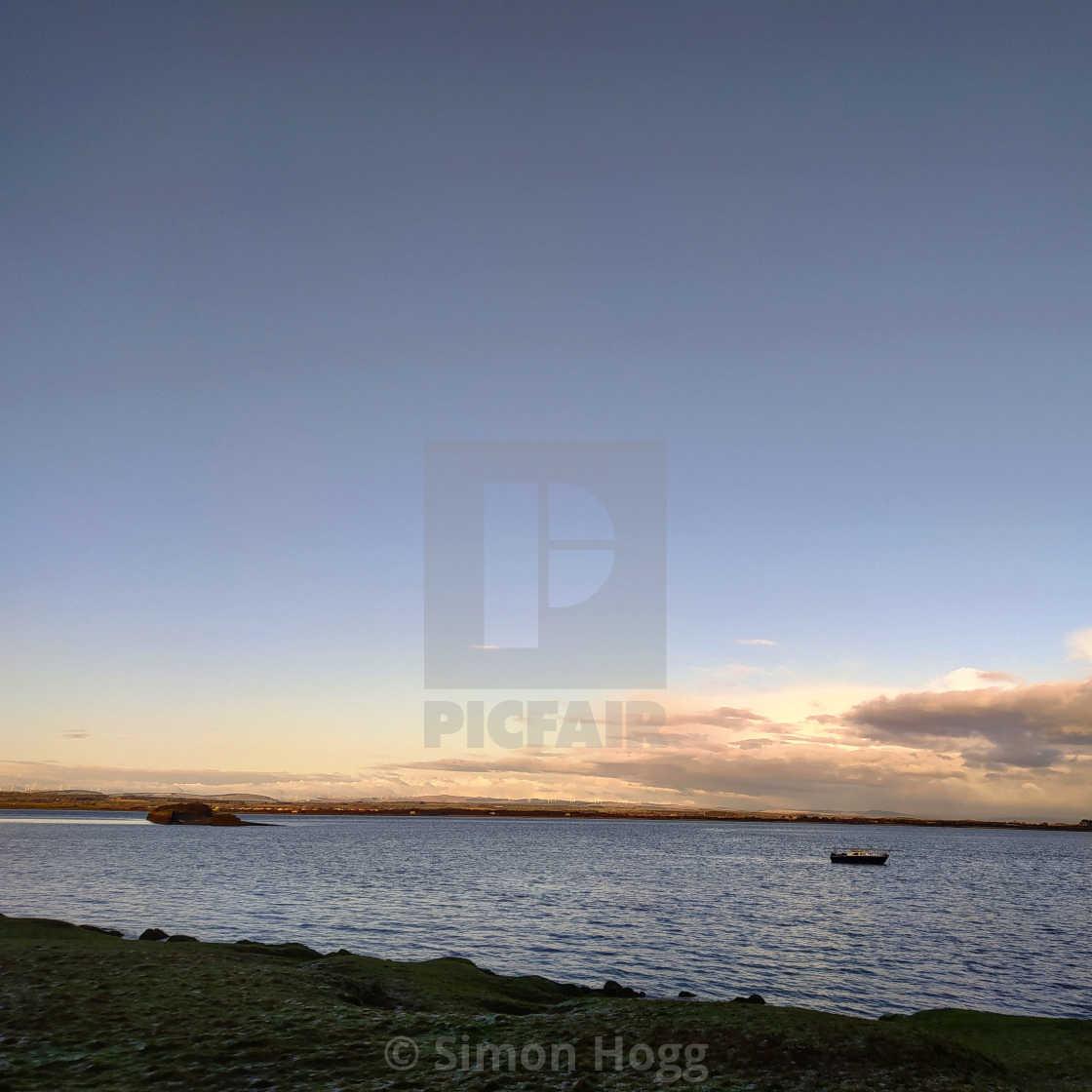 """Port Carlisle, Solway"" stock image"