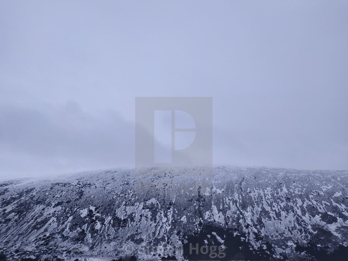 """""""Carrock Fell in the snow"""" stock image"""