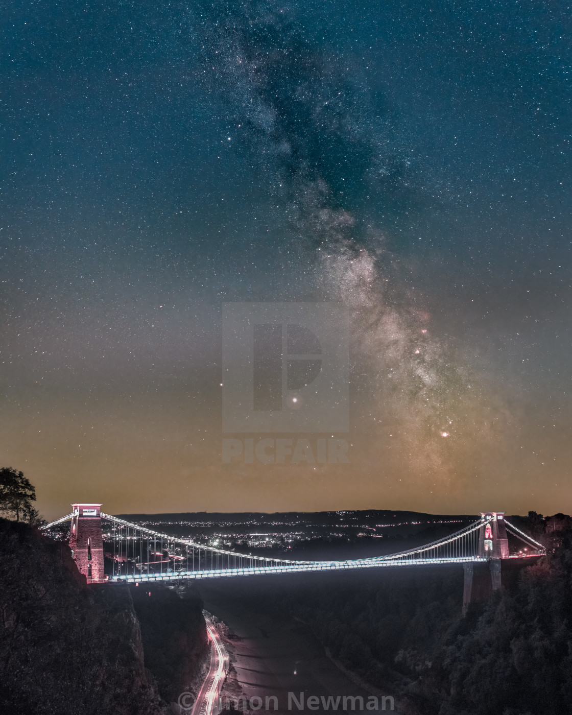"""Clifton Suspension Bridge Milky Way"" stock image"