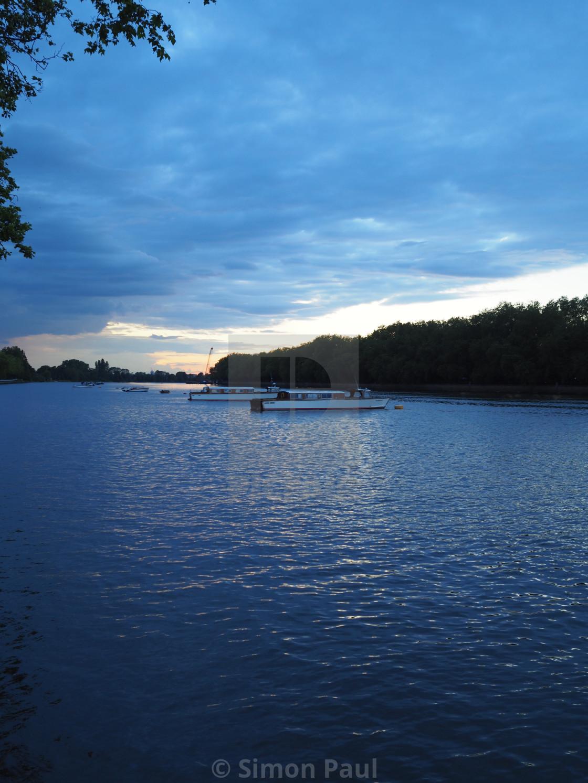 """Dusk on the Thames"" stock image"