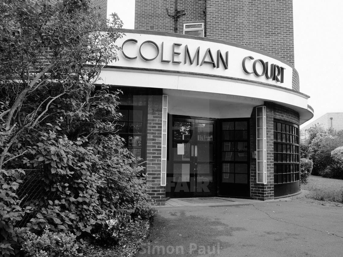 """Coleman Court"" stock image"