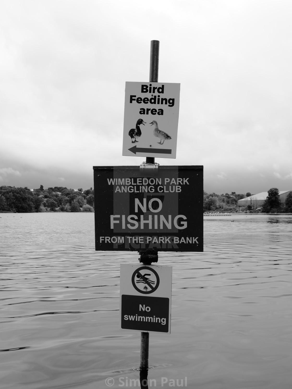 """No Fishing"" stock image"