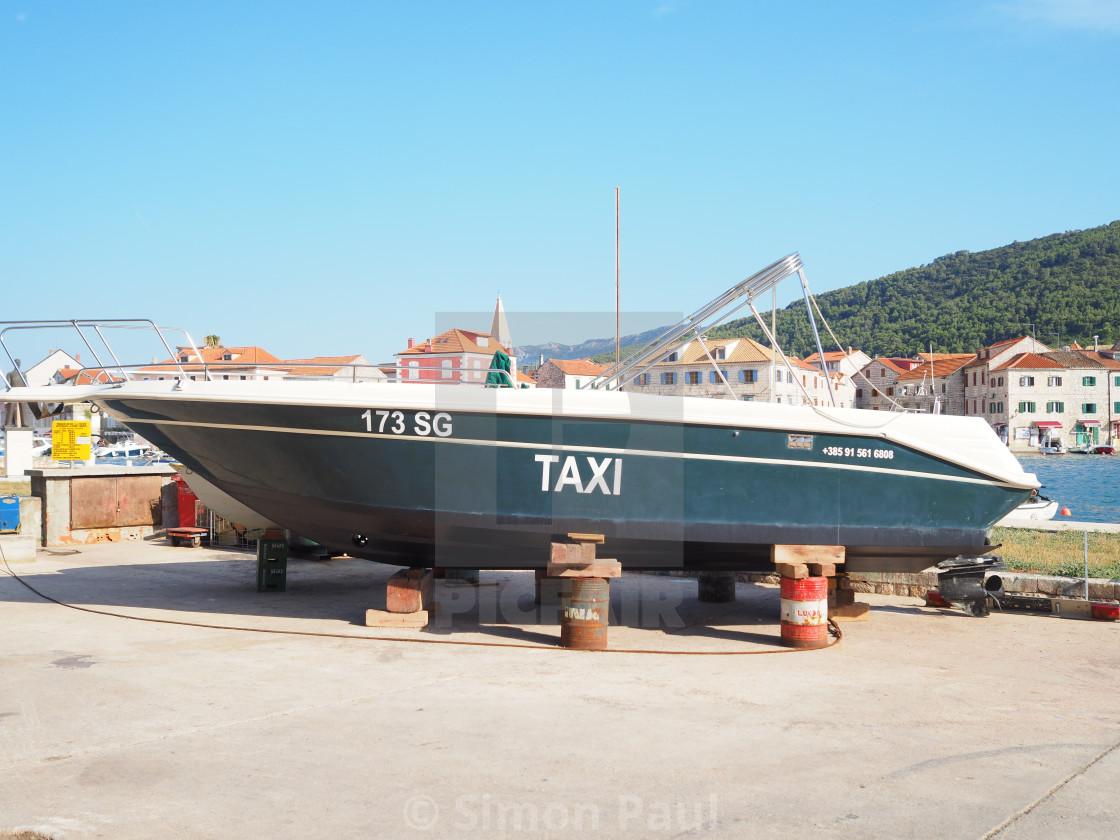 """UBER boats, coming soon..."" stock image"