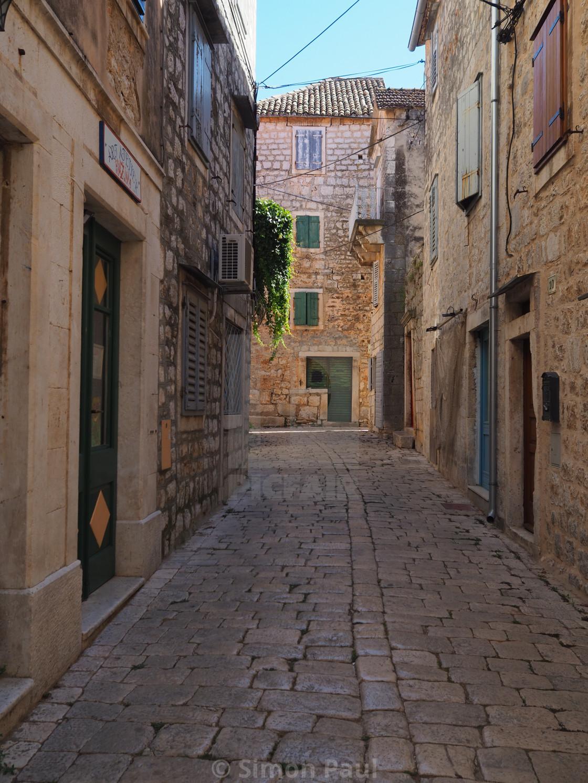 """""""Street in Stari Grad"""" stock image"""