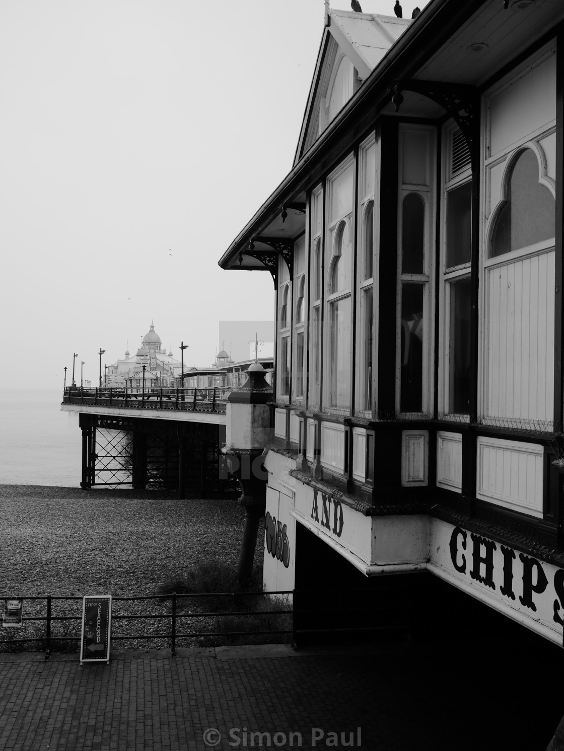 """Eastbourne Pier, Detail"" stock image"