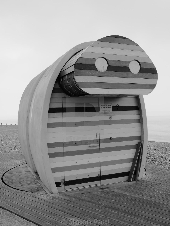 """Beach Hut"" stock image"