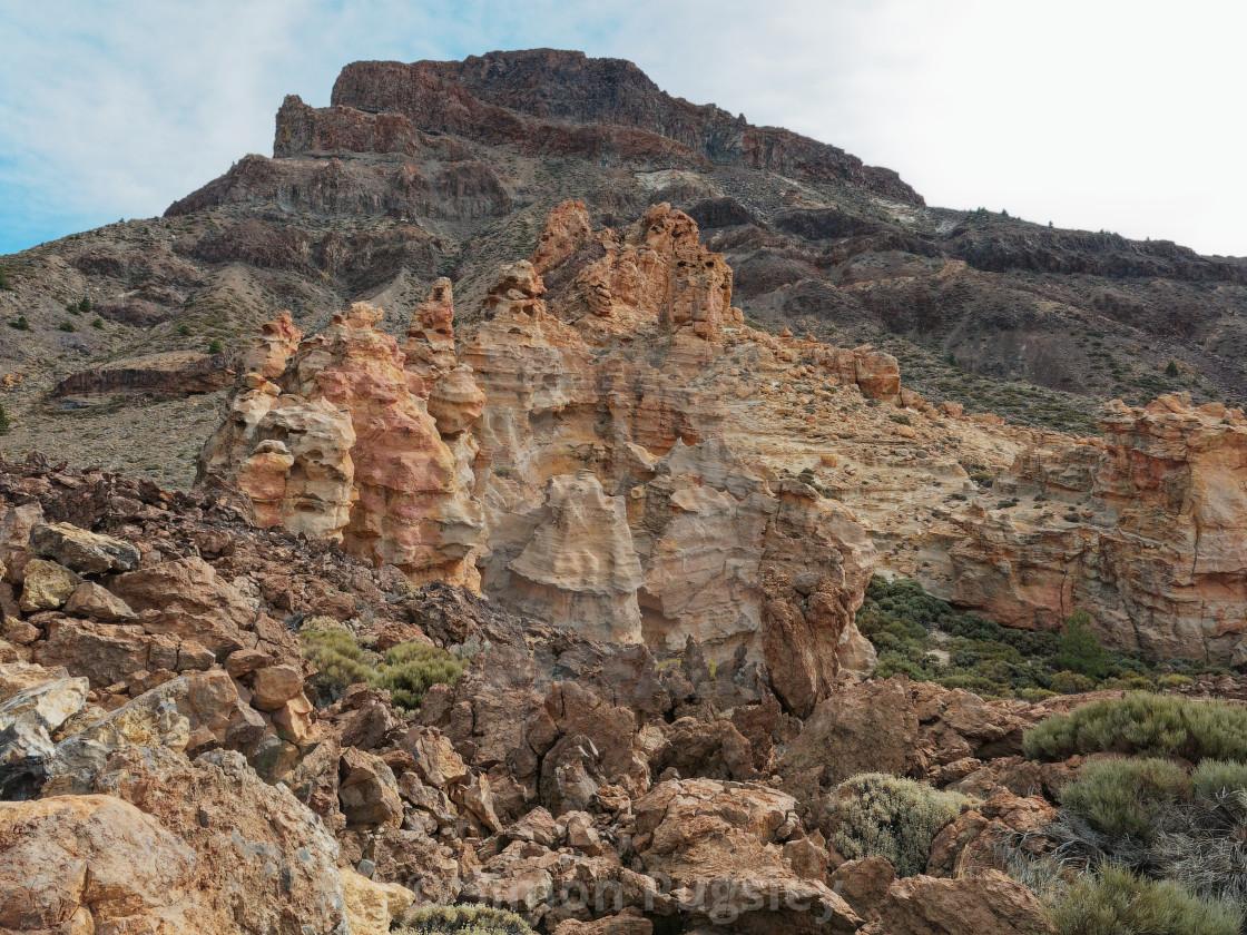 """Pinnacles of Mount Teide"" stock image"