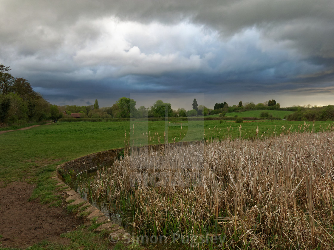 """""""Brooding Clouds"""" stock image"""