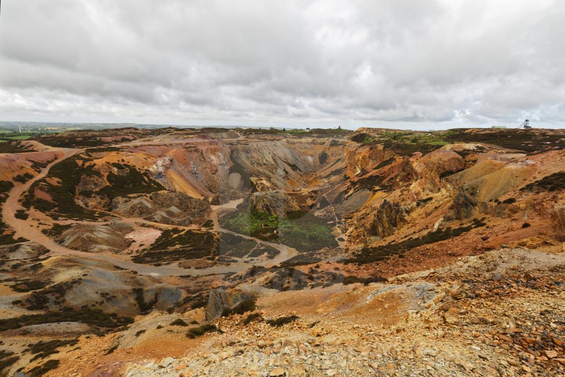 """Parys Mountain Copper Mine"" stock image"